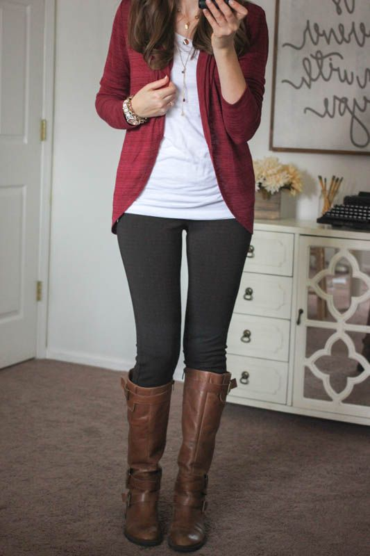 Malaga Drape Cardigan and Reagan Skinny Pant from Liverpool - Stitch Fix love this...not sure about the plaid but would love the pants in a solid color