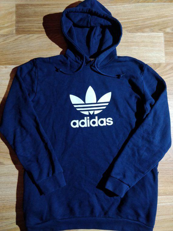 2c23501a066a Adidas Originals Mens Hoodie Tracksuit Top Jacket Hooded Dark Blue in 2019