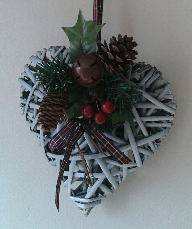 Christmas Wicker Heart.