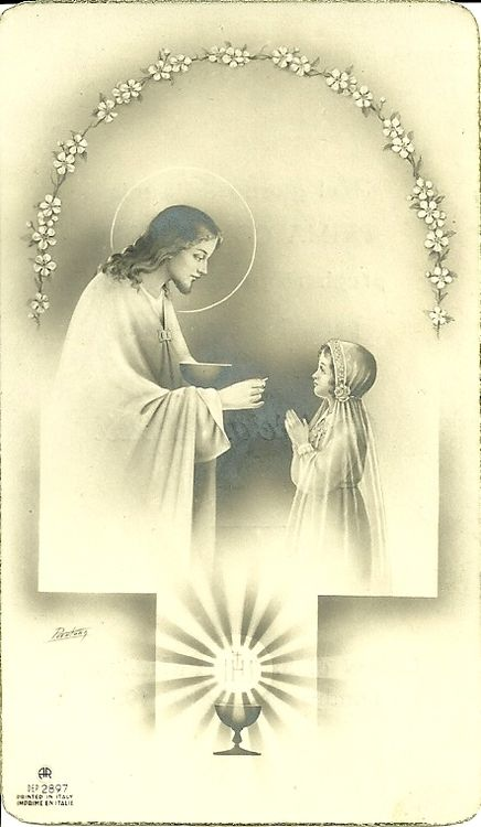 """""""The soul about to receive Holy Communion should be pure, that it may be purified; alive, that it may be quickened; just, that it may be justified; ready, that it may be incorporated with God uncreated who was made Man, and that it may be one with Him unto all eternity"""" - Blessed Angela Foligno"""