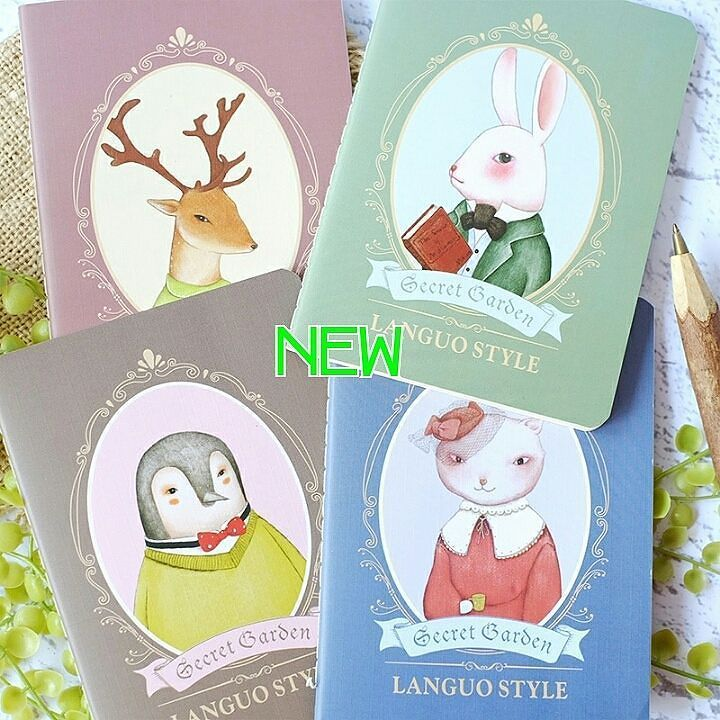 SECRET GARDEN PLAIN POCKET NOTES  Tersedia dalam 4 varian sampul: -Penguin(Pinguin) -Deer(Rusa) -Rabbit(Kelinci) -Cat(Kucing)  Ukuran : 10.5 x 14.2 cm Isi : 24 lembar (48 halaman) Kertas polos warna putih gading Jilid jahitan benang. by ghijk_pop