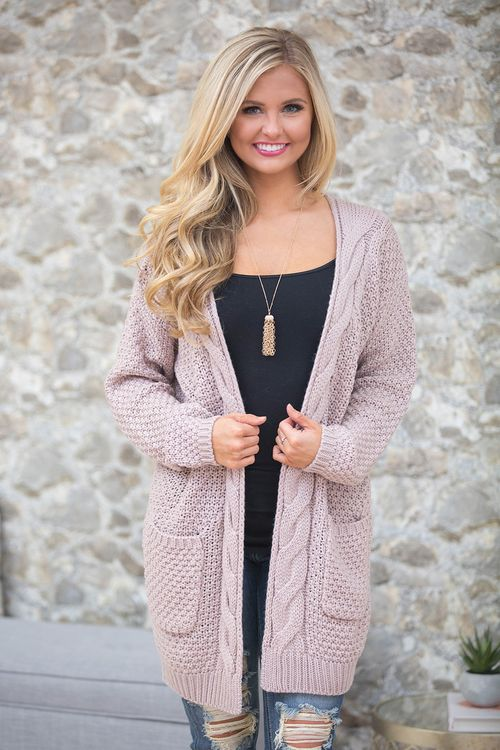 This wonderfully thick and cozy cardigan is perfect for a night by the fire or a day of wrapping holiday presents!