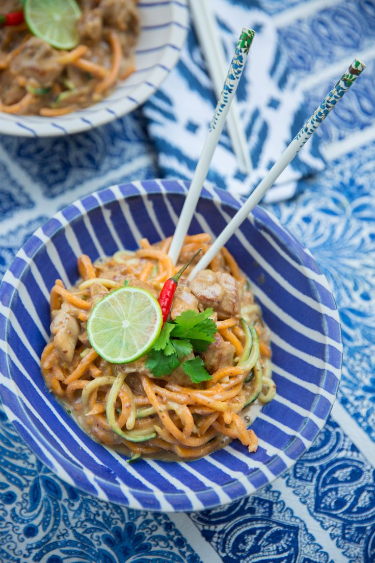 Skinny Satay Noodles – #LowCarb #Keto #SugarFree and still the best satay you'll ever try!
