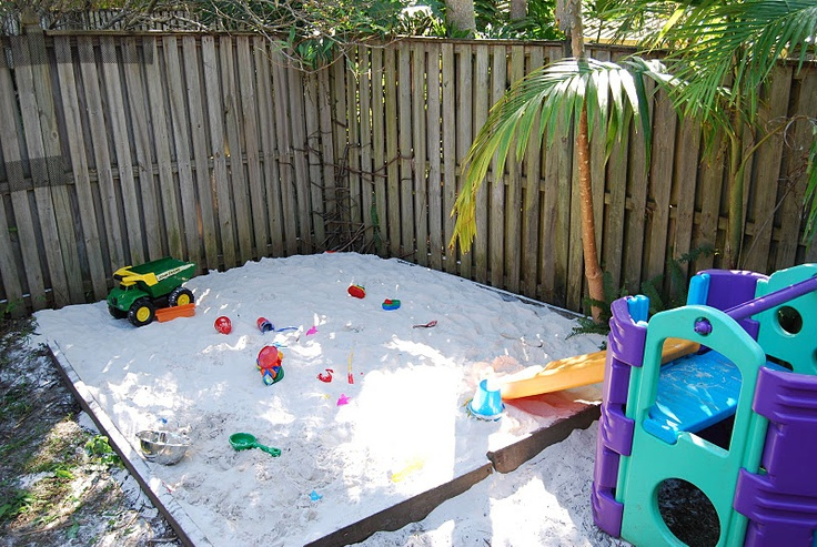 Backyard Sandpit : backyard sandpit, the kids would love one of these!