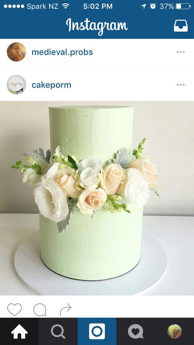 Plain icing + florals