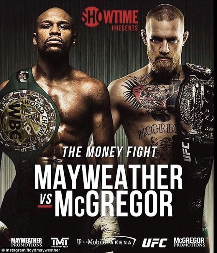 "Today's the day! Conor McGregor @thenotoriousmma and Floyd Mayweather @floydmayweather both made weight yesterday with #Mayweather coming in at 149.5lb and #McGregor just squeaked under the limit at 153lb. Both #fighters were confident of victory in tonight's #fight. Mayweather says ""It won't go the distance mark my words"" while Connor promises ""I'm going to breeze through him. Trust me on that.""  What do you think will happen?  #MayweathervsMcGregor airs tonight at 9pm ET on Showtime PPV…"