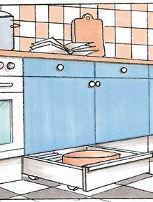 Stauraum in der Küche: Sockel-Schublade