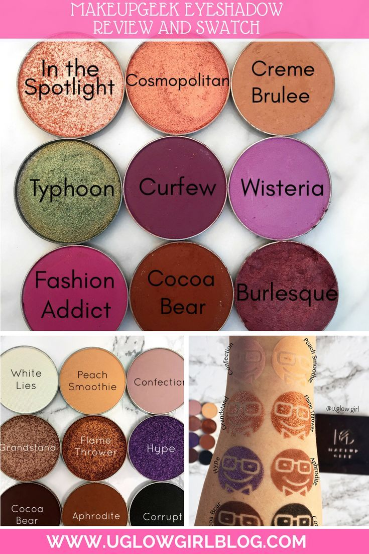 The Best Makeupgeek Eyeshadows And Swatches Makeup Geek Eyeshadow Best Makeup Geek Eyeshadows Makeup Geek
