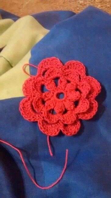 Mi primera flor en crochet