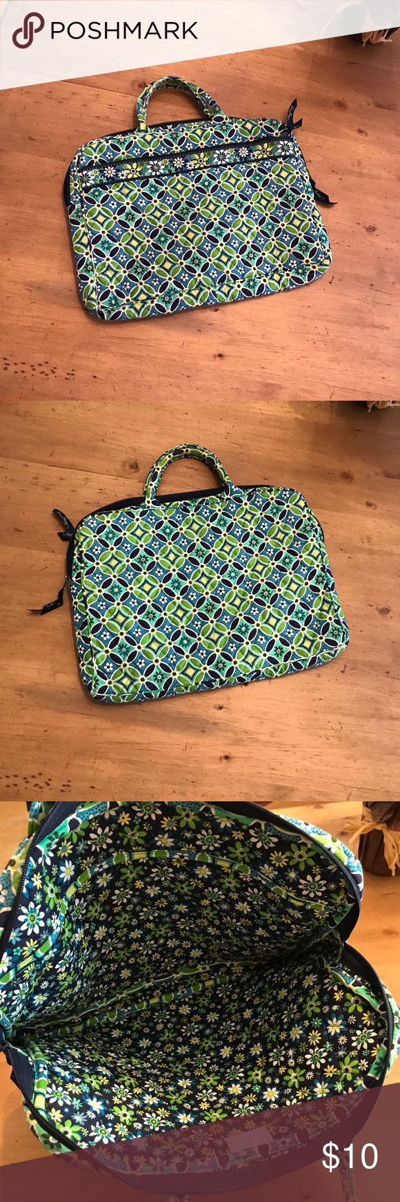 VERA BRADLEY Laptop Bag Gently loved — has been cleaned.  Fits standard size laptops.    ⭐️Please feel free to ask additional questions but no modeling, measurements, or trades.⭐️ Vera Bradley Bags