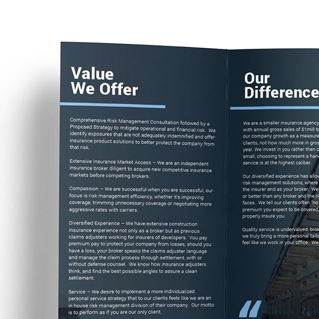 Risk Strategies Brochure Design And Layout Printdesign