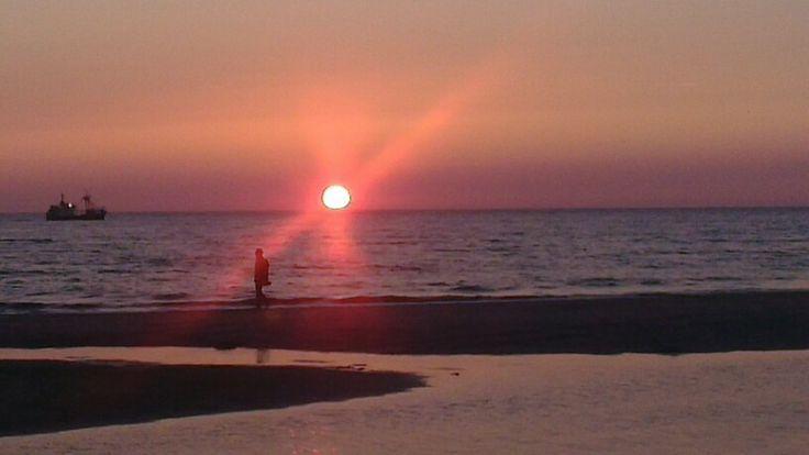 De zon in de zee zien zakken!!!