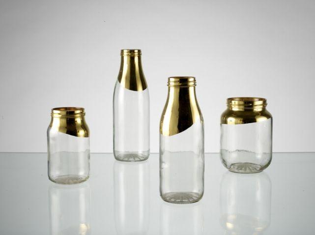 Recyclage de bocaux et bouteilles en vases chic