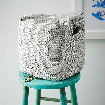 Metallic Woven Storage Basket #westelm; $40