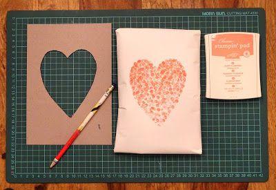 Anti-Langeweile-Ideen: Geschenkpapier gestalten   veronicard  #Herz #Valentinstag #Hochzeit #stempeln