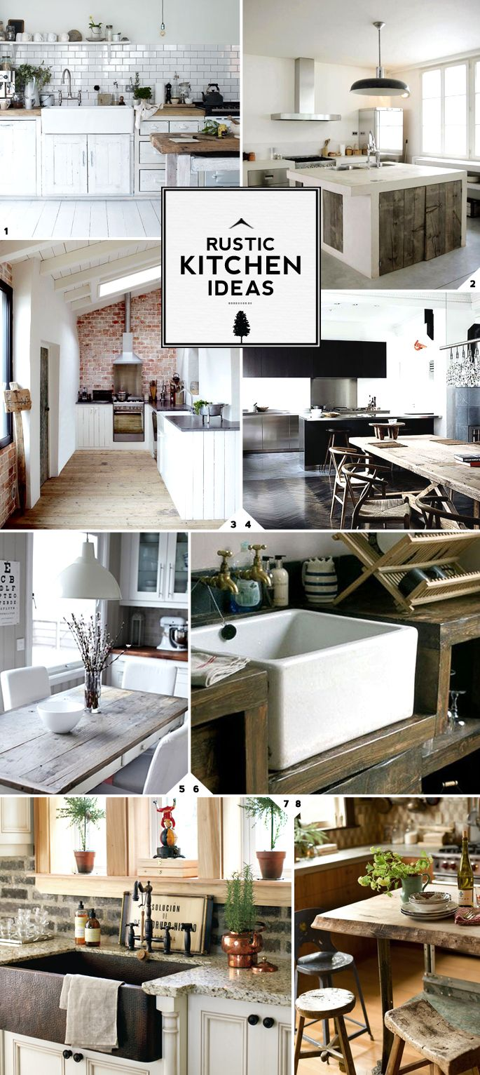 Rustic kitchen decor ideas: everything from storage, cabinets, the dining table to the kitchen island, backsplash and lighting