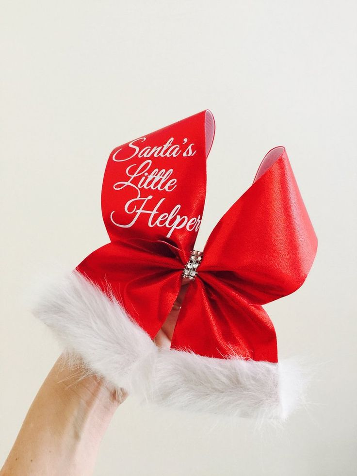 Santa's Little Helper Cheer Bow