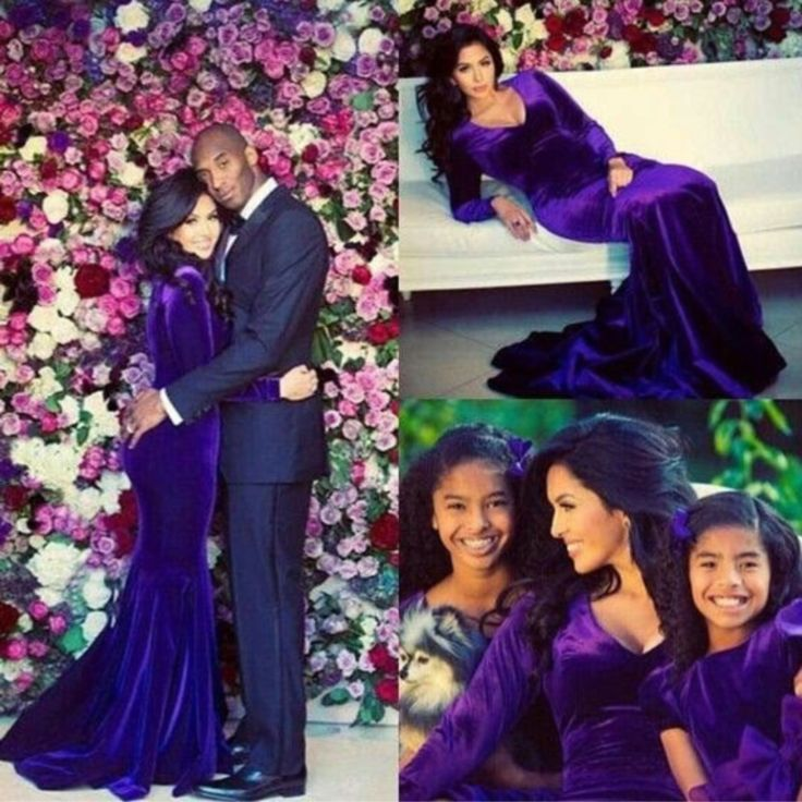 Kobe Bryant with his wife and daughters