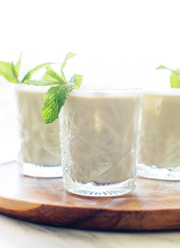 creamy iced matcha lattes