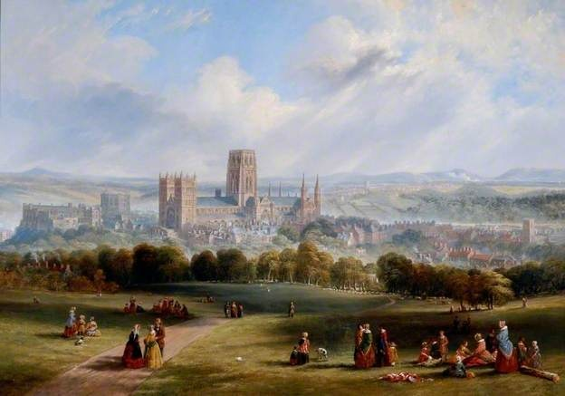 Durham from Observatory Hill by John Wilson Carmichael 1847 at Durham University