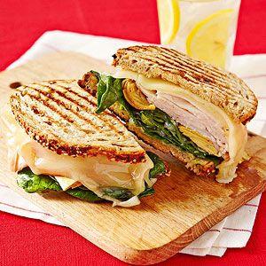 Chicken, Spinach and Artichoke Panino recipe