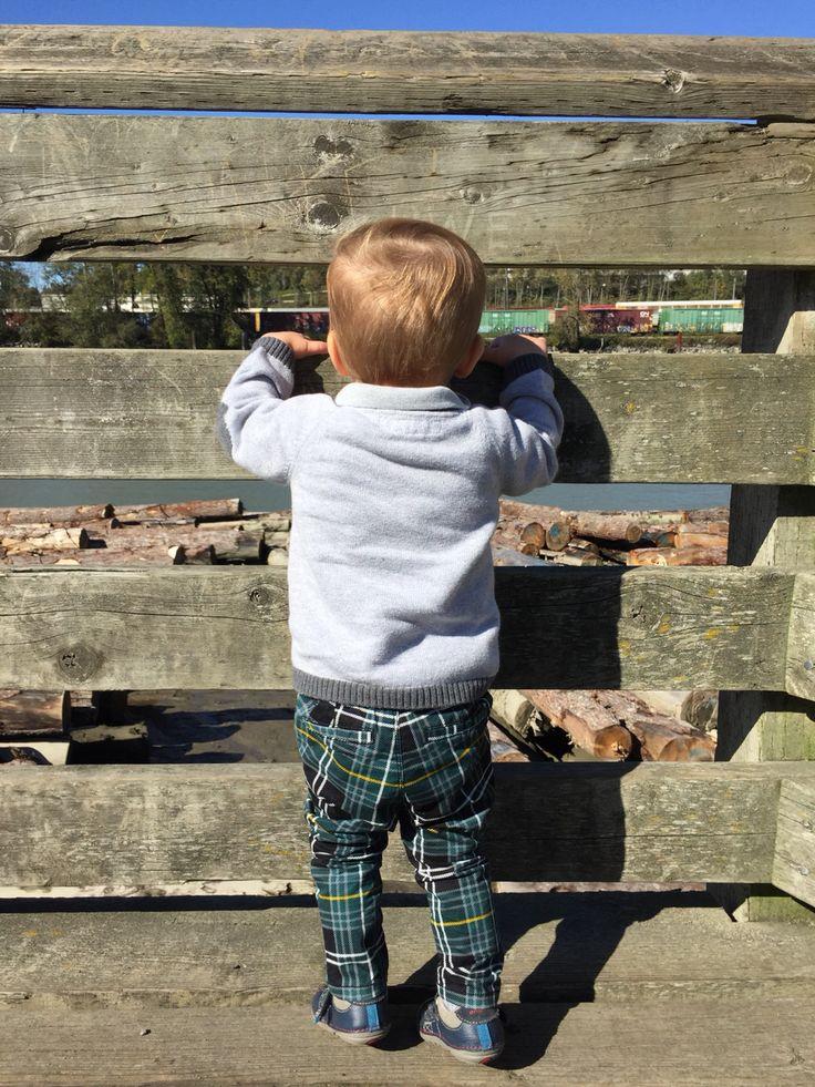Nicholas rocking his fashion forward slacks!