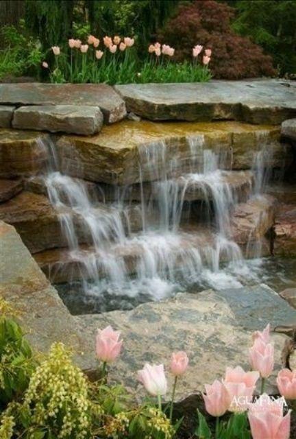 36 best images about Wasserspiel on Pinterest Fountain ideas - wasserfall garten wand