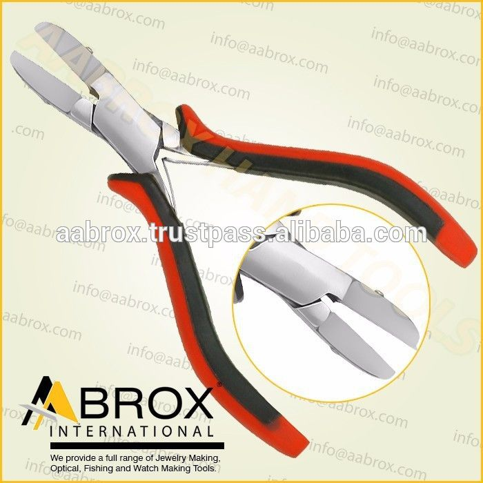 Model Number: AI-PP-103      Stainless Steel Piercing Pliers     Serrated or Plain Jaw,      Box Joint.      With Spring.       Size: 12.5 cm.     Better Then China And Other Countries.      Heavy Duty Double Grip Handles.