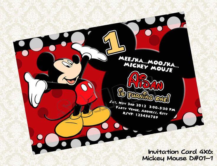 Mickey Mouse Printable Birthday Invitations Free