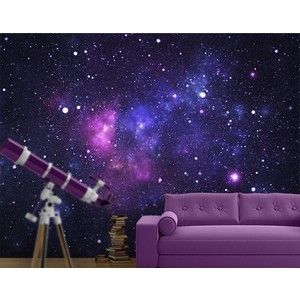 Photo Wall Mural Galaxy Wallpaper Wall art Wall decor Outer Space Stars Cosmos