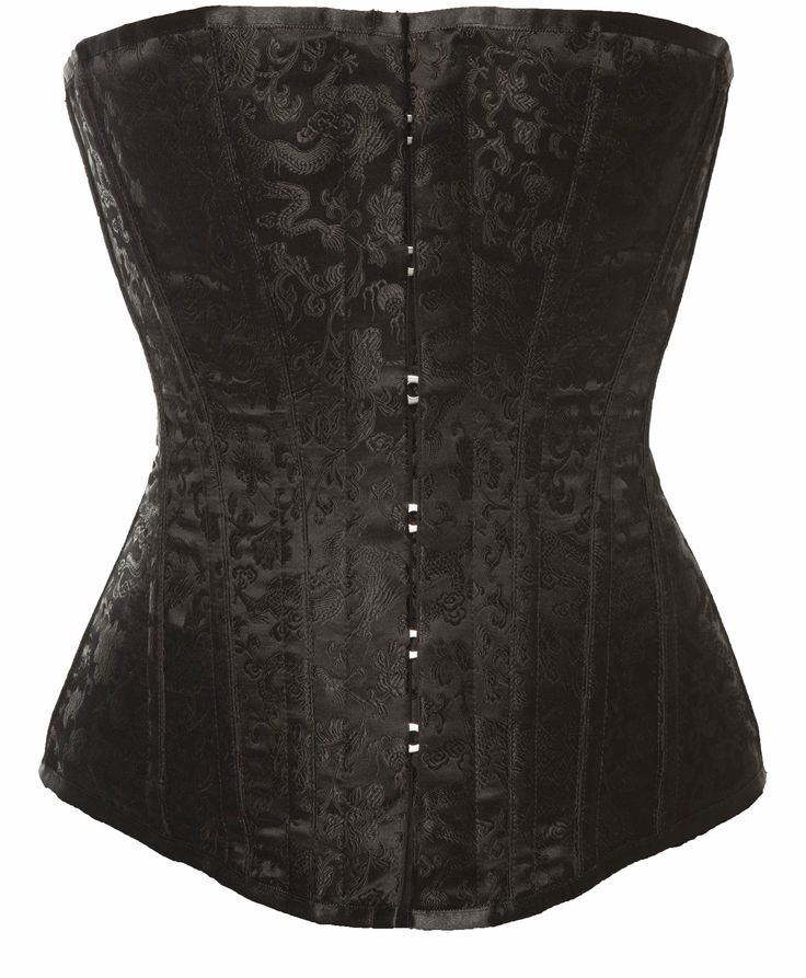 Harmony Overbust Corset by Vollers - Fabric- Black/Black Chinese