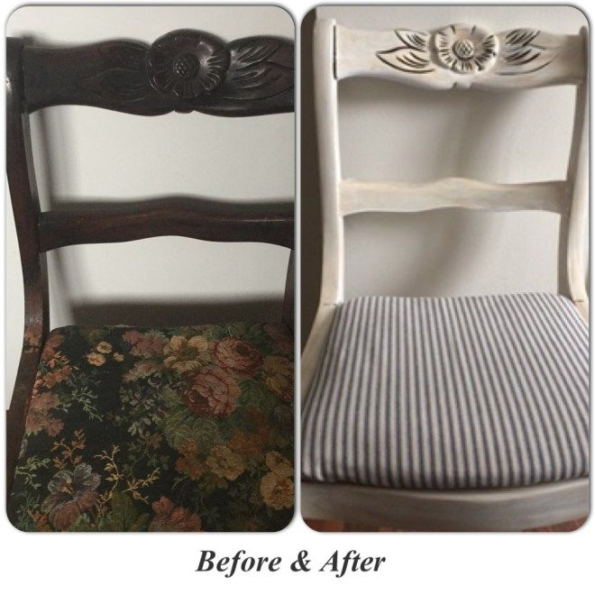 Refinished Chair With Americana Chalk Paint                              …