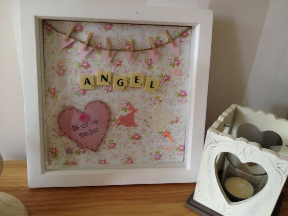 Handmade new baby boy/girl scrabble frame by Uniquehangingplaquex
