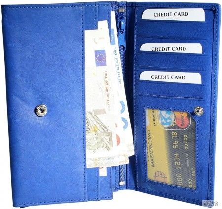 Excellanc Női pénztárca  Rindbőr. Format 17 x 10 cm.
