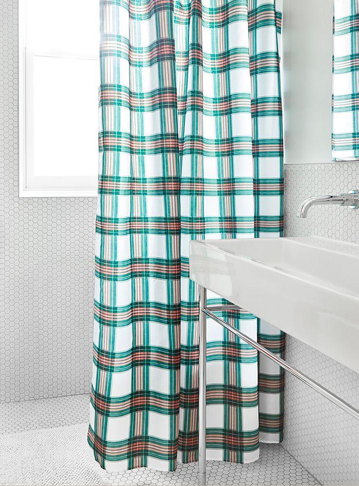 le rideau de douche carreaux terracotta  simons maison