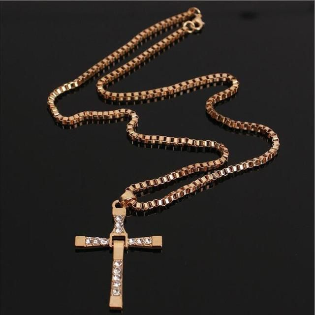 Jesus Holy Cross Celebrity F&F Crystal Cross Necklace