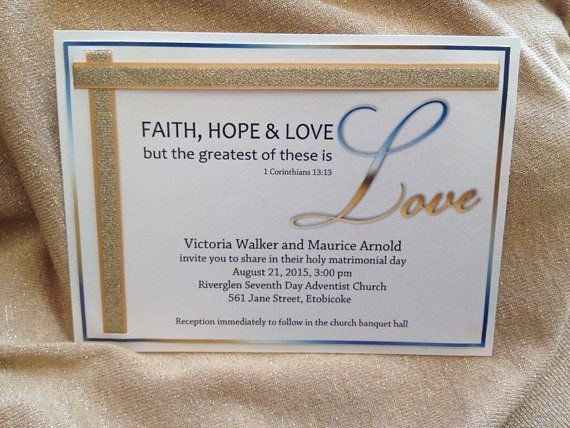Wedding Invitation Wording Christian: Christian Wedding Invitation SAMPLE By LetsCelebratetheDay