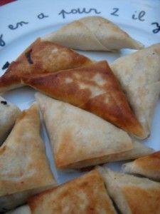 Petits samoussa poulet kiri et coriandre, à partager ! #kiri #recette #samossa #yummy #Kids #food #cream #cheese #fromage #apero