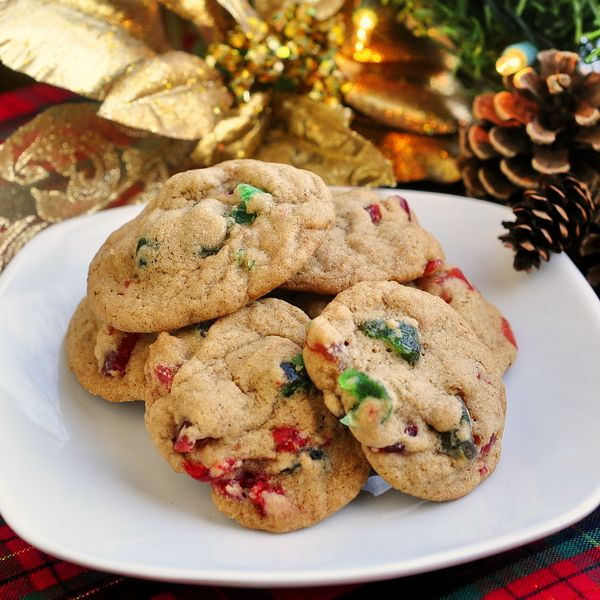 Chewy Light Fruitcake Cookies- even some people who clainmed to not like fruitcake gobbled down several of these at my office Christmas party last year.