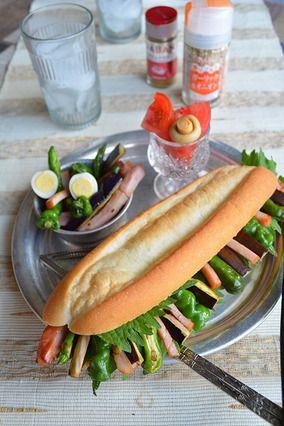 多国籍バインミー! 夏野菜とハムで簡単スタミナランチ -スパイス大使- #bánh mì thịt  レシピブログ