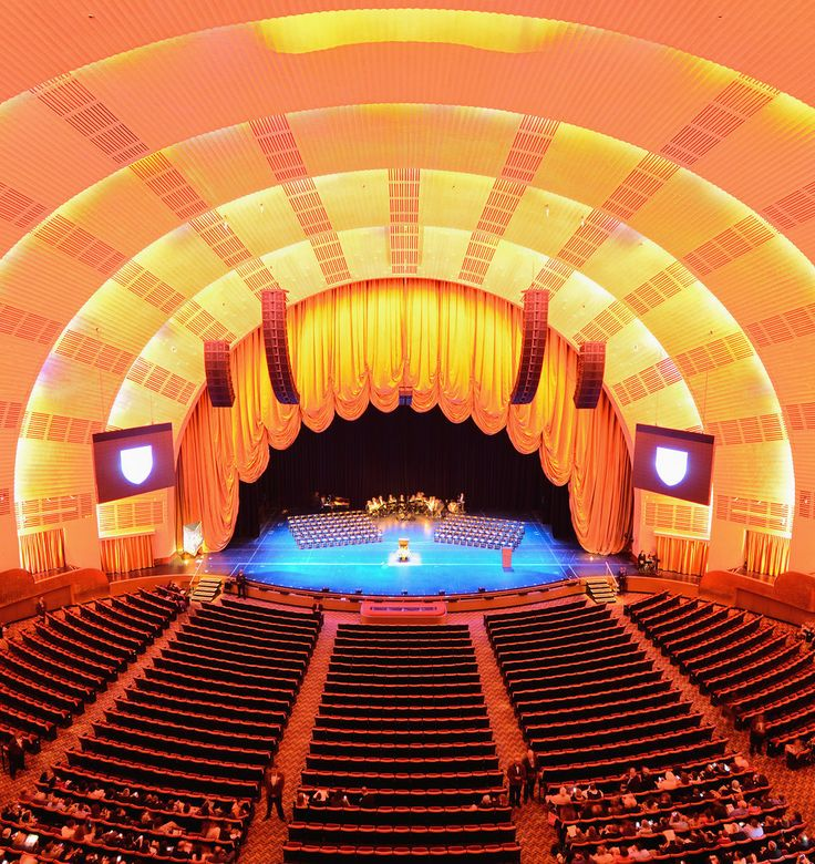 Radio City Music Hall is an entertainment venue located in Rockefeller Center in New York City. Its nickname is the Showplace of the Nation, and it was for a time the leading tourist destination in the city. Its interior was declared a city landmark in 1978.