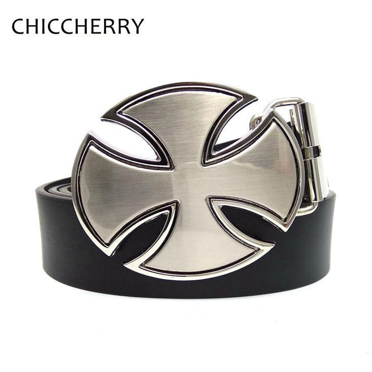 Fashion Cool Mens German Iron Cross Metal Buckle Belts Accessories Strap Male Gift Belt Buckles Fivela De Cinto For Men Jeans #Affiliate