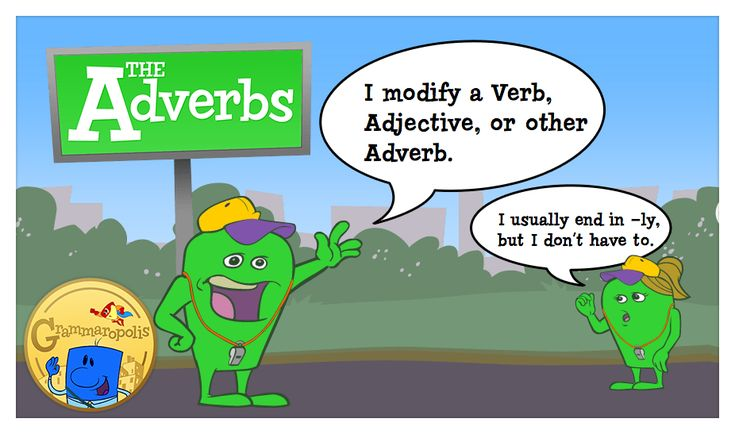 The Adverb Neighborhood, featuring Benny the adverb. An adverb modifies a verb, adjective, or other adverb.: Bright Ideas, High School Middle, Adverb Modifies, Adverb Neighborhood, Cc Cycle, Esl Resources, Featuring Benny, 5Th Grade, 3Rd Grade