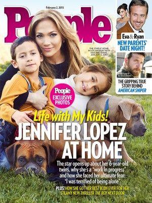 Jennifer López con a sus hijos Max y Emme en la portada de People | PeopleenEspanol.com