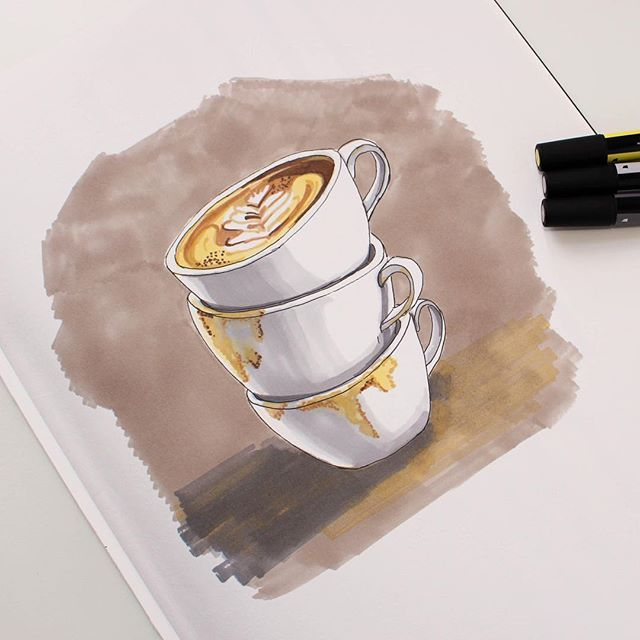Cappuccino time with #promarkers