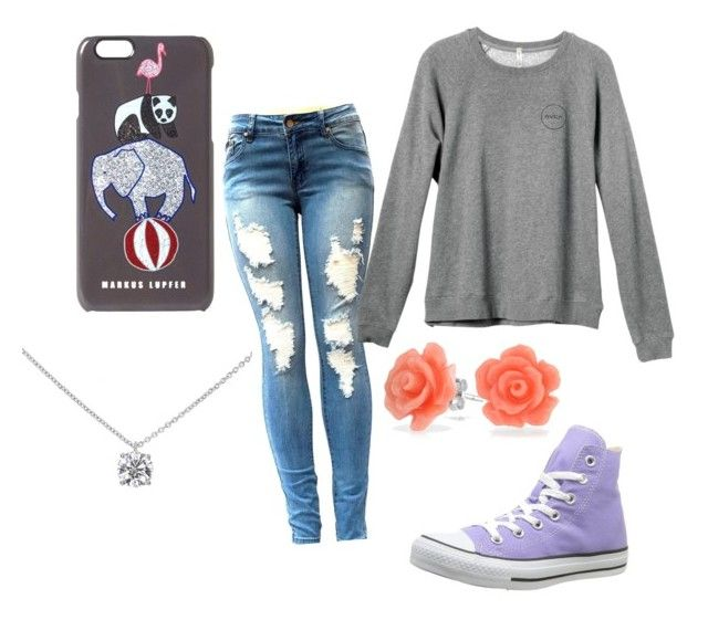"""""""Okay?"""" by tohot4u on Polyvore featuring RVCA, Markus Lupfer, Converse, Bling Jewelry and Tiffany & Co."""