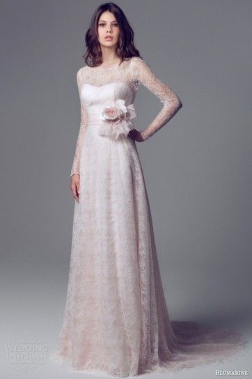 Abiti da sposa rosa 2014 - Vestito da sposa in pizzo Blumarine 2014