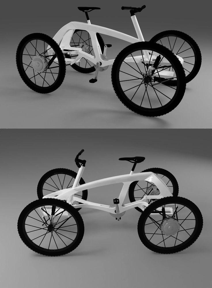 Estudiantes mexicanos y alemanes crearon un cuatriciclo híbrido, que combina la energía mecánica producida por el usuario con el pedaleo, con tres motores eléctricos que aumentan la velocidad.