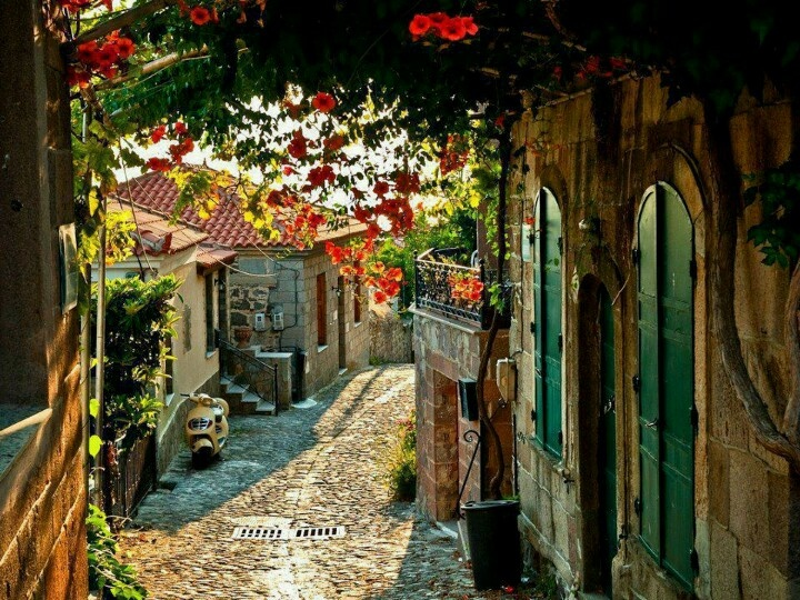 Charming Molyvos village in Lesvos