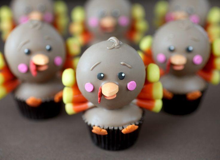Mini Turkey Cupcakes